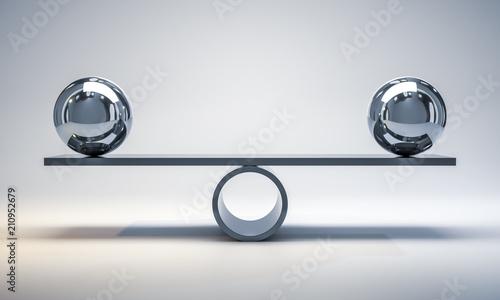 Slika na platnu chrome balls on a scale