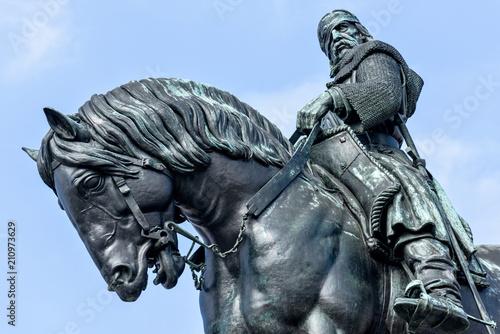 Canvas Print Equestrian statue of Jan Zizka near Vitkov memorial