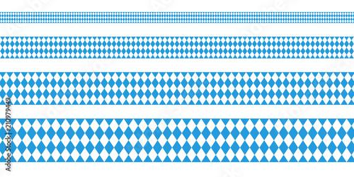Vászonkép Banner Octoberfest Straight Pattern