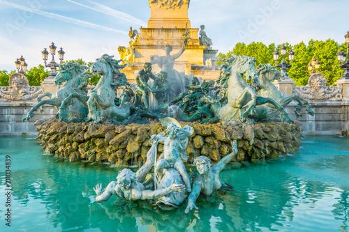 Fotografie, Tablou Monument aux Girondins in Bordeaux, France