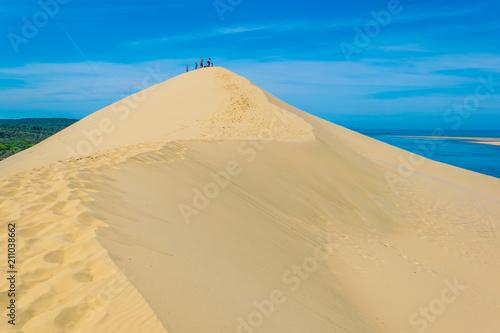 Fotografia Dune du Pilat, the biggest sand dune in Europe, France