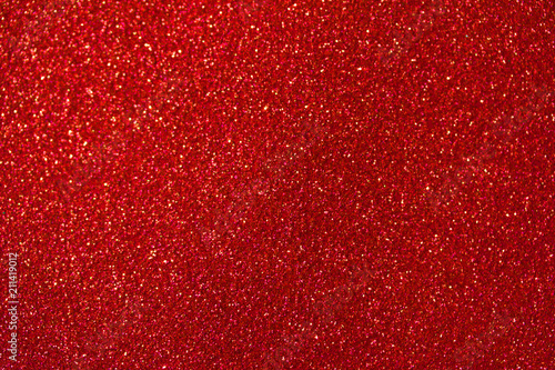 Tablou Canvas Beautiful red glitter macro abstract background with bokeh