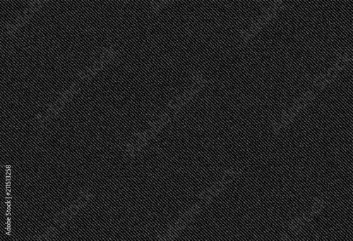 Canvas Print vector background of black jeans denim texture