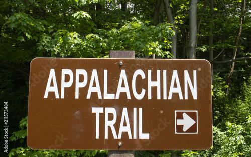 Appalachian Trail Sign Arrow Pointing Right Tapéta, Fotótapéta