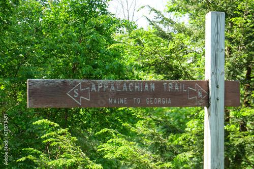 Vászonkép Appalachian Trail Sign Maine to Georgia
