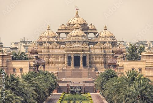 Naklejki na meble Swaminarayan Akshardham kompleks indyjskiej świątyni w New Delhi w Indiach