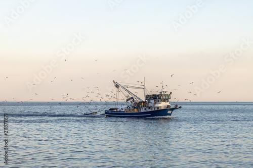 Fishing boat at sea in Croatia