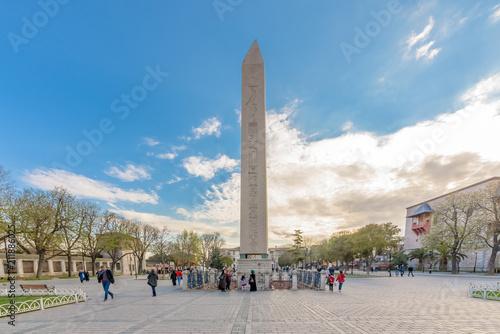 Fototapeta Obelisk of Theodosius or Egyptian Obelisk in Istanbul