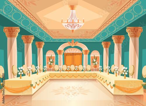 Cuadros en Lienzo Vector hall for banquet, wedding