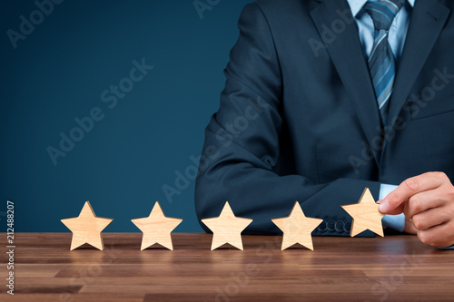 Carta da parati Increase rating five stars