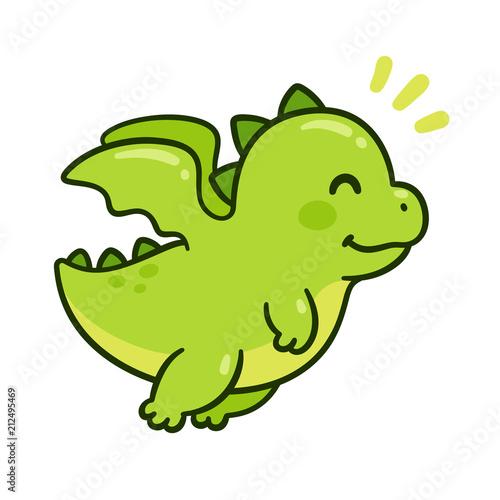 Obraz na plátně Cute baby dragon