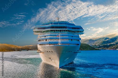 Fotografie, Obraz White Cruise Ship from Front