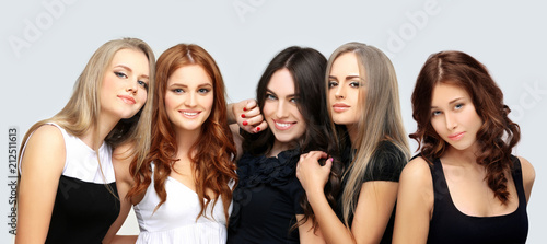 Fotografia Concept Coloring Hair.Curly hair
