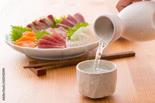 日本酒とお寿司