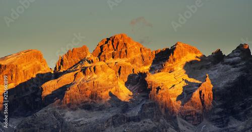 Fotomural Brenta Dolomites in sunset light, Italy, Europe