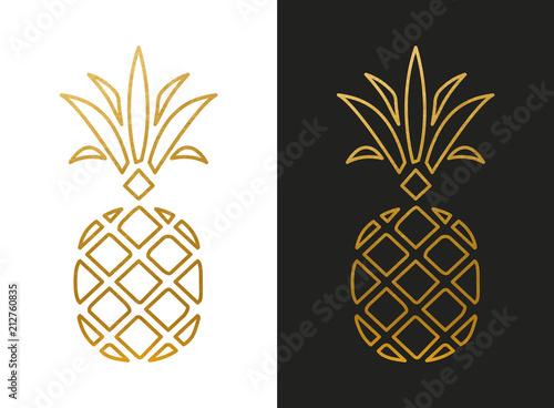 Fotografia Modern Golden Pineapple Shape