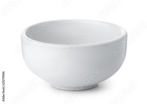 White empty ceramic bowl