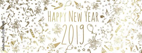 Fotografie, Tablou happy new year 2019