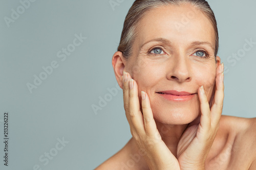 Beauty mature woman with perfect skin