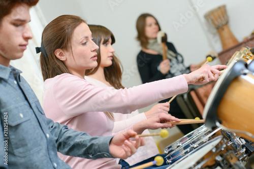 Obraz na plátně percussion lesson