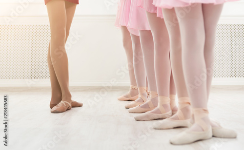 Fotografia Ballet background, young ballerinas training