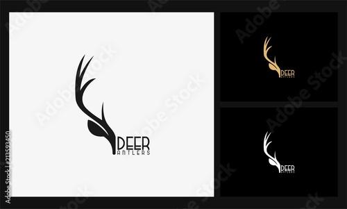 Leinwand Poster deer antlers logo