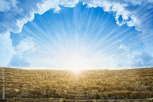 Light from heaven, staircase to heaven Fototapet