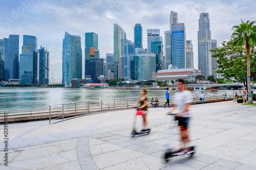 Modern Singapore  people eco transport