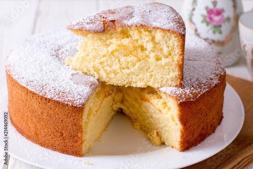 Valokuva Homemade sponge cake