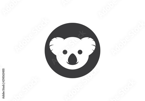 Fototapeta premium Wektor ilustracja logo Koala