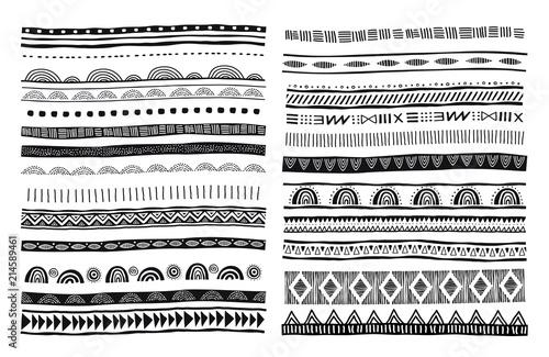 Fototapeta African, tribal, ethnic vector pattern brushes