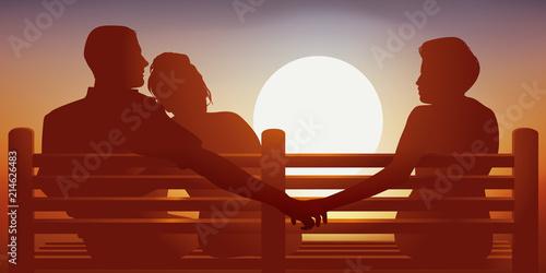 adultère - couple - amour - infidélité - jaloux - mentir - mensonge - confiance Fototapete