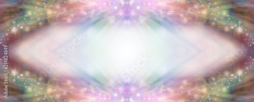 Foto Beautiful sparkling ethereal  background frame - multicoloured shimmering sparkl