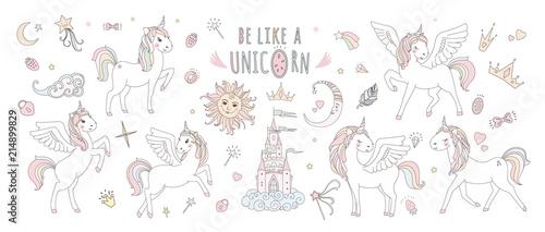 Photo Unicorn vector sweet cute illustration