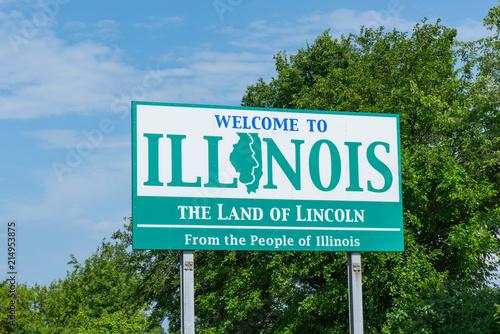 Valokuva Welcome to Illinois Sign