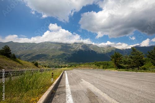 Valokuvatapetti View of Gran Sasso mountain in Abruzzo region Italy