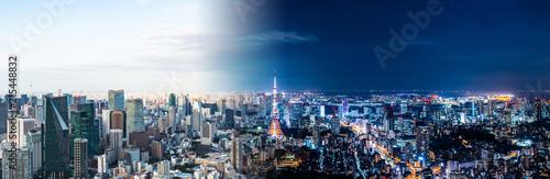 東京の昼と夜