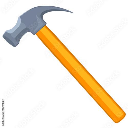 Colorful cartoon claw hammer Fototapet