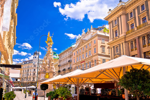 Historic architecture square in Vienna view