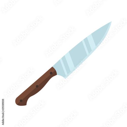 Fototapeta Knife. Flat design. Vector.