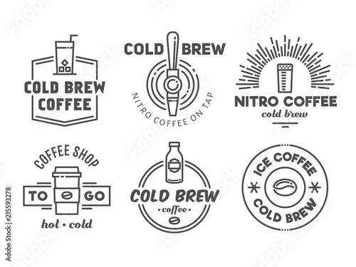 Fotografía Cold brew coffee and nitro coffee badges