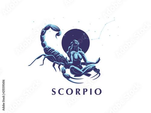 Obraz na plátně Sign of the zodiac Scorpio. Constellation of the Scorpion.