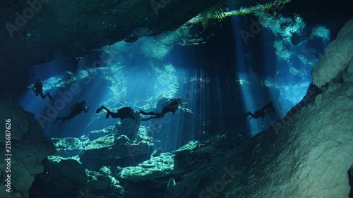 Fotografia Diving in cenote