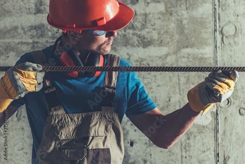 Stampa su Tela Reinforcement Steel in Hands