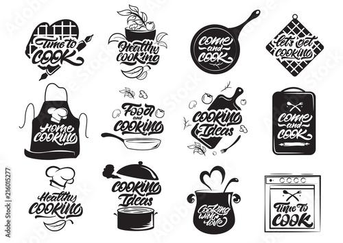 Fotomural Cooking logos set