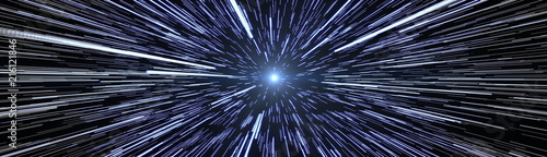 Stars Travel Hyperspace Szeroki rozmiar obrazu banerowego