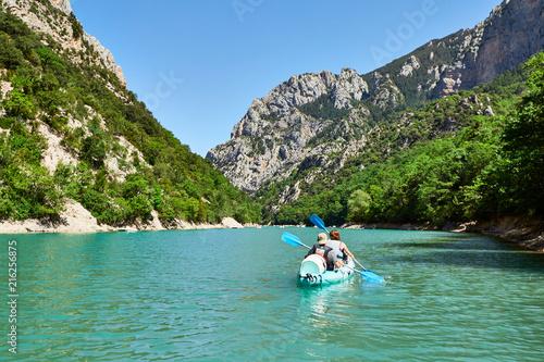 Obraz na płótnie kayaks on St Croix Lake, Les Gorges du Verdon, Provence, France