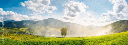Slika na platnu panorama of beautiful mountainous countryside