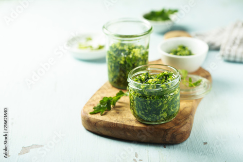 Fotografie, Obraz Homemade pesto sauce