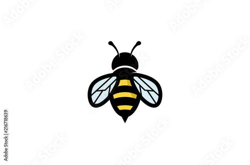 Fotografie, Obraz Creative Geometric Bee Logo Design Illustration